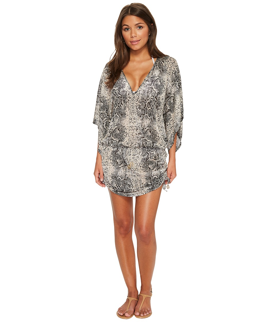 Luli Fama Bombo Cabana V-Neck Dress (Multi)