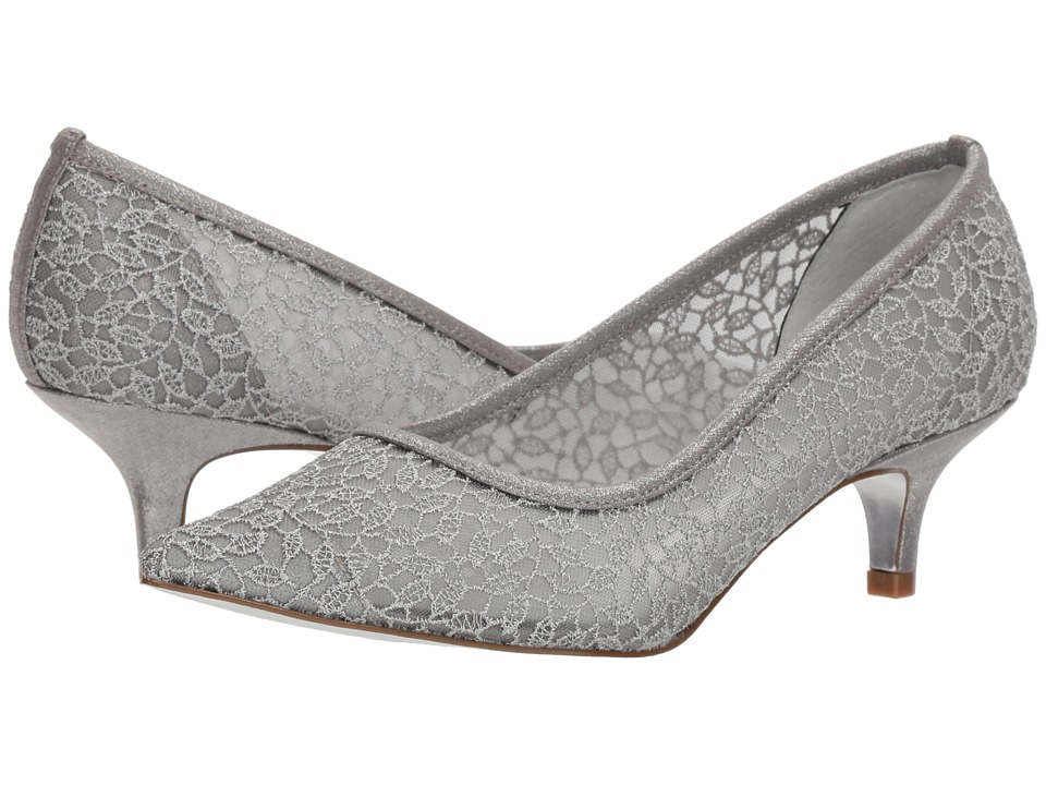 Adrianna Papell Lois Lace (Silver Valencia Lace) 1-2 inch heel Shoes