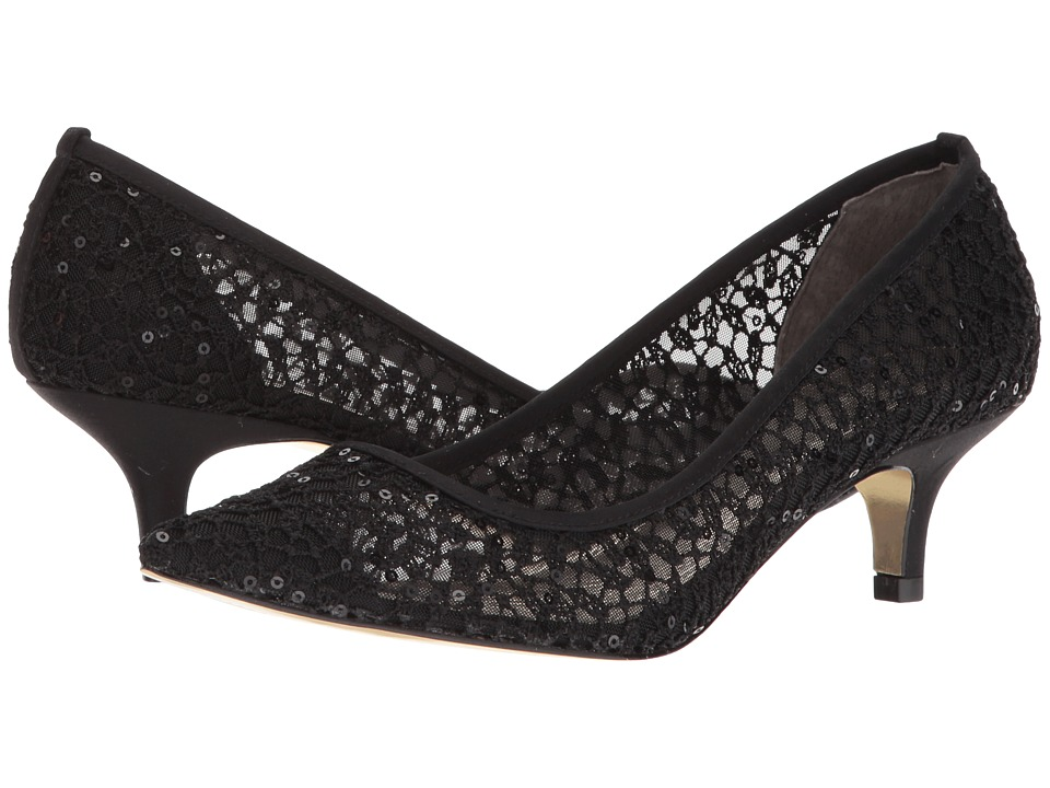 Adrianna Papell Lois Lace (Black Martinique Lace) 1-2 inch heel Shoes