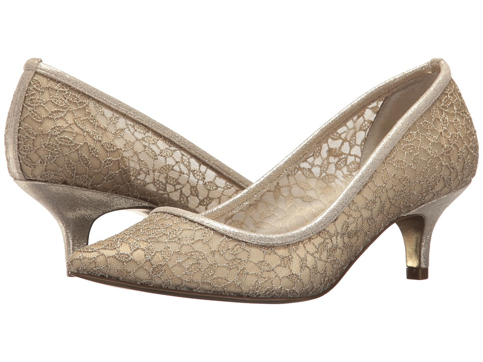 Adrianna Papell Lois Lace (Gold Valencia Lace) 1-2 inch heel Shoes