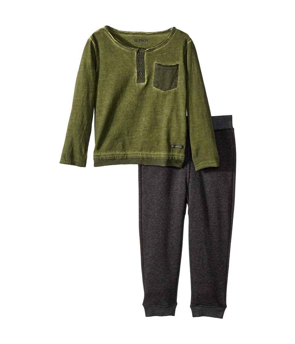 Hudson Kids - Two-Piece Henley Top w/ Jogger Pants Set (T...
