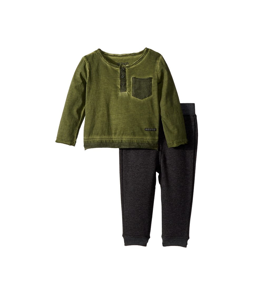 Hudson Kids - Two-Piece Henley Top w/ Jogger Pants Set (I...
