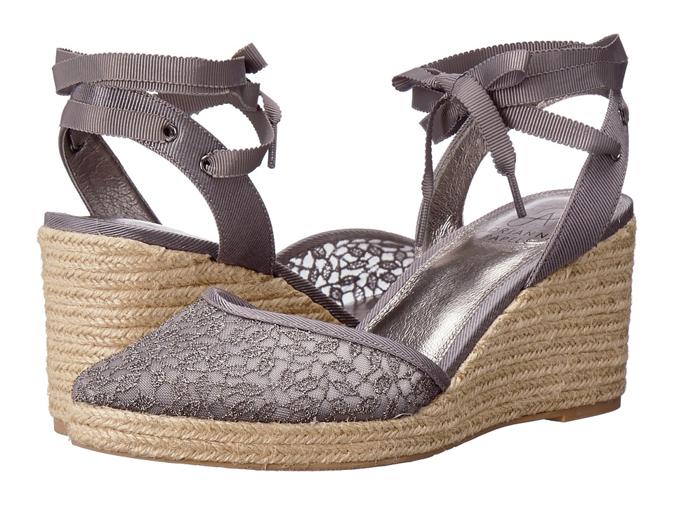 Adrianna Papell - Pamela (Pewter Valencia Lace) Womens Wedge Shoes