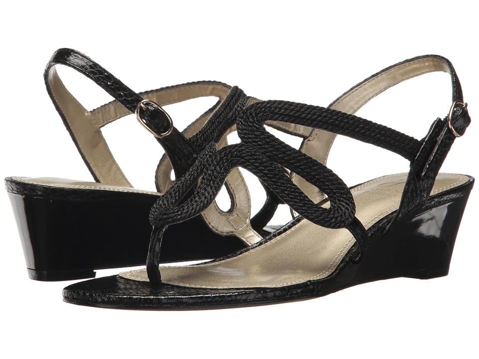 Adrianna Papell Cannes (Black Rope) Wedges