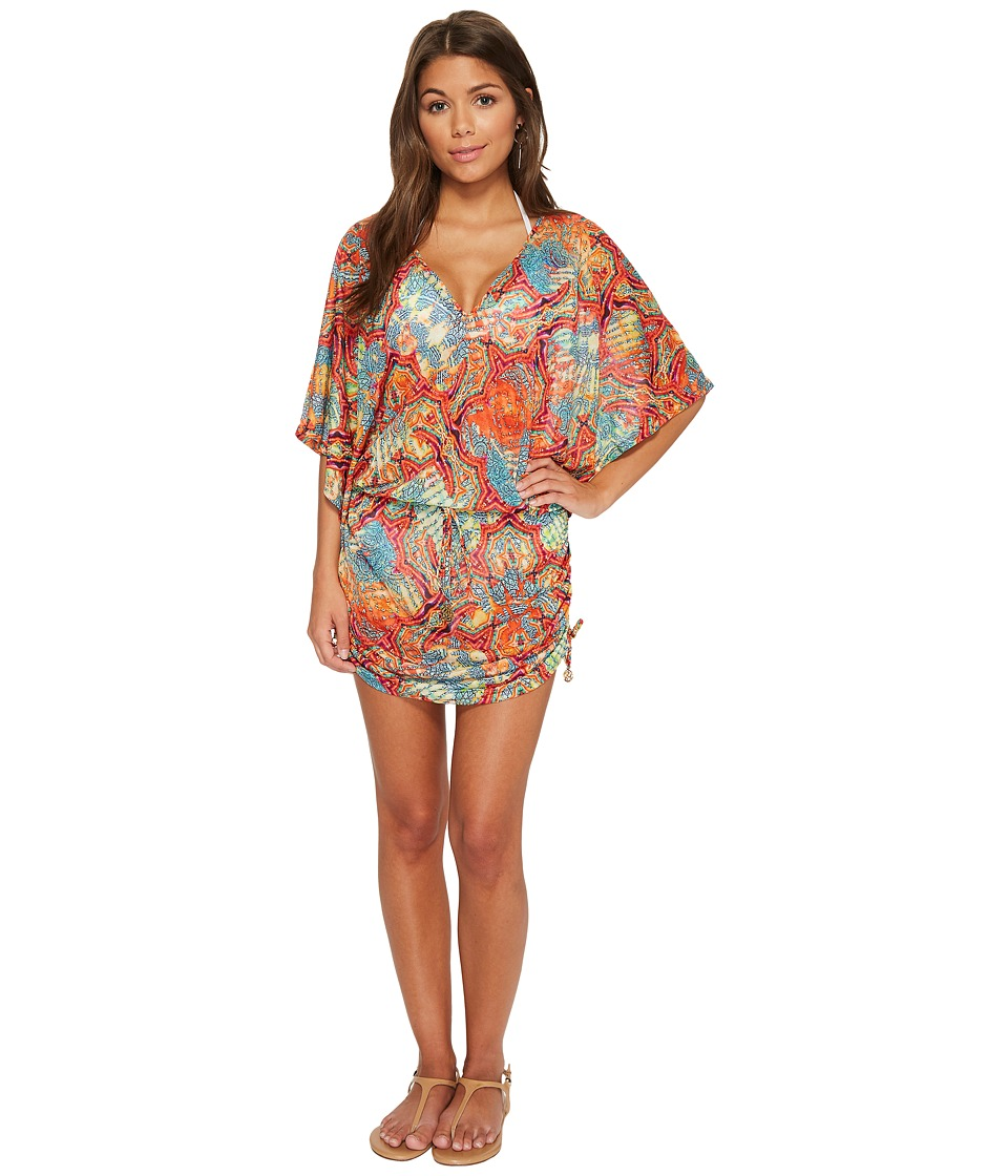 Luli Fama La Bella De Cuba Cabana V-Neck Dress (Multi)