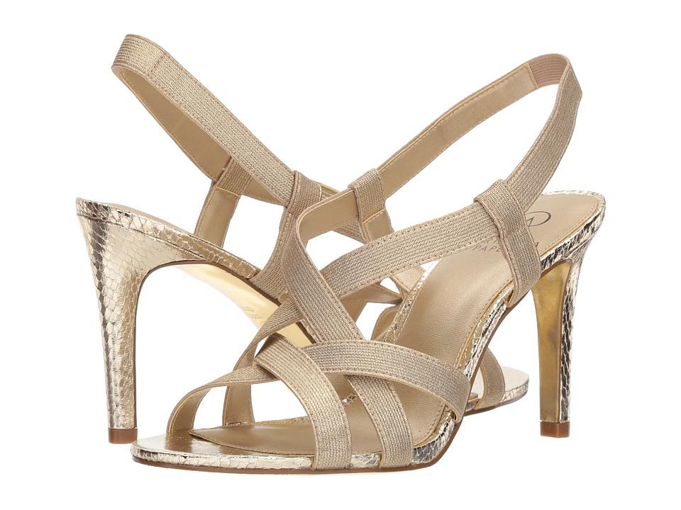 Adrianna Papell Addie (Platino Metallic Elastic) High Heels