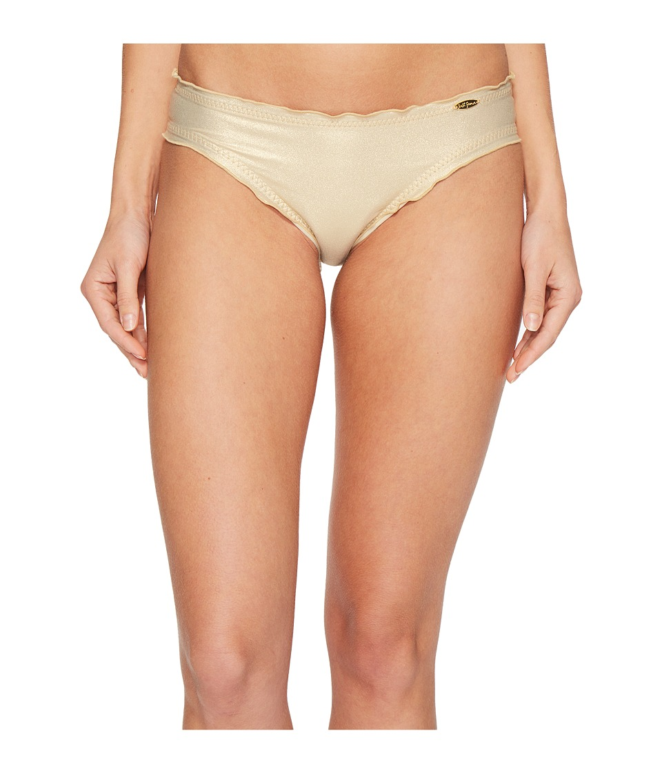 Luli Fama - Cosita Buena Wavey Full Bikini Bottom (Gold Rush) Womens Swimwear