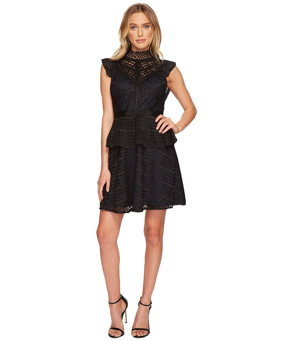 Adelyn Rae Maeve Fit Flare Dress (Black) Women