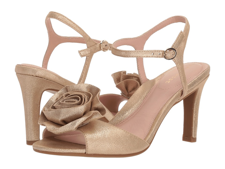 Taryn Rose Jacklyn (Gold Shimmer Metallic) High Heels