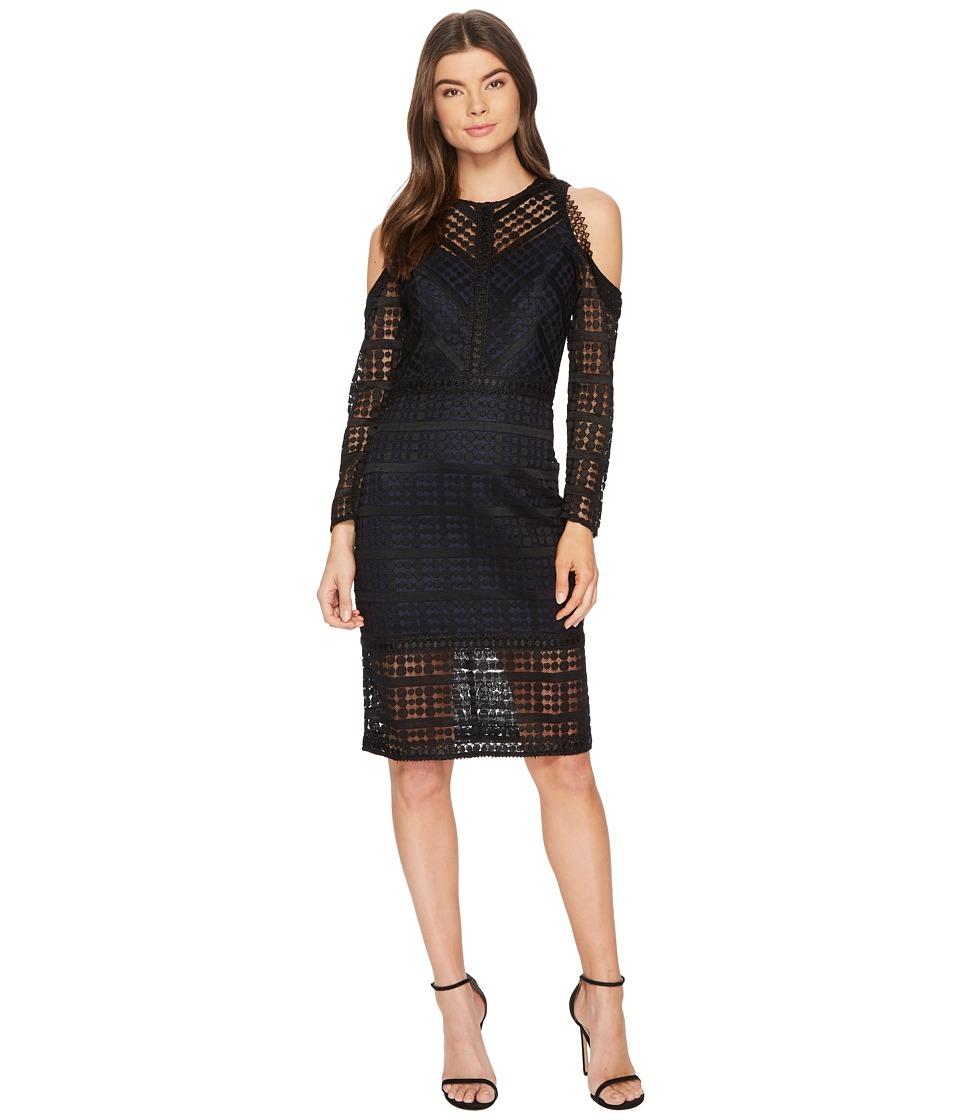 Adelyn Rae - Maeve Sheath (Black/Navy) Womens Dress
