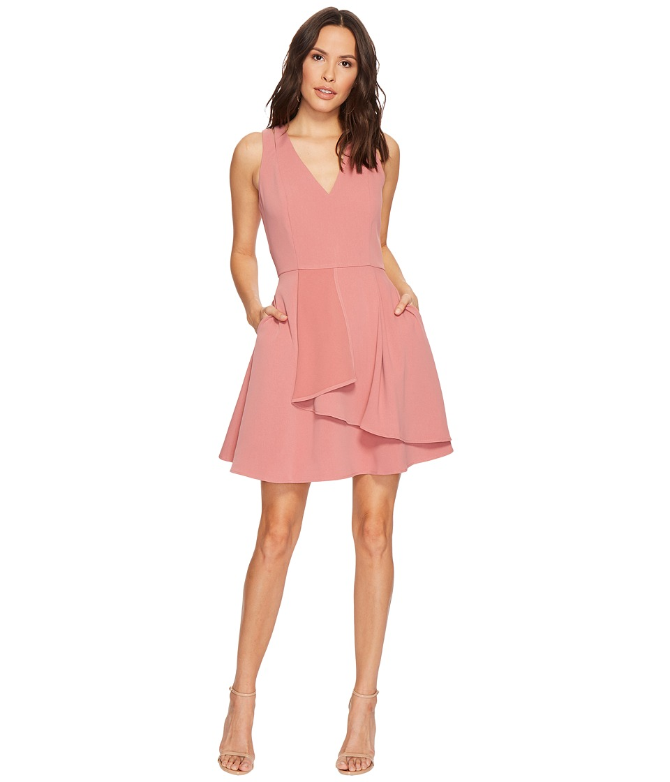 Adelyn Rae Paige Fit Flare Dress (Rosette) Women