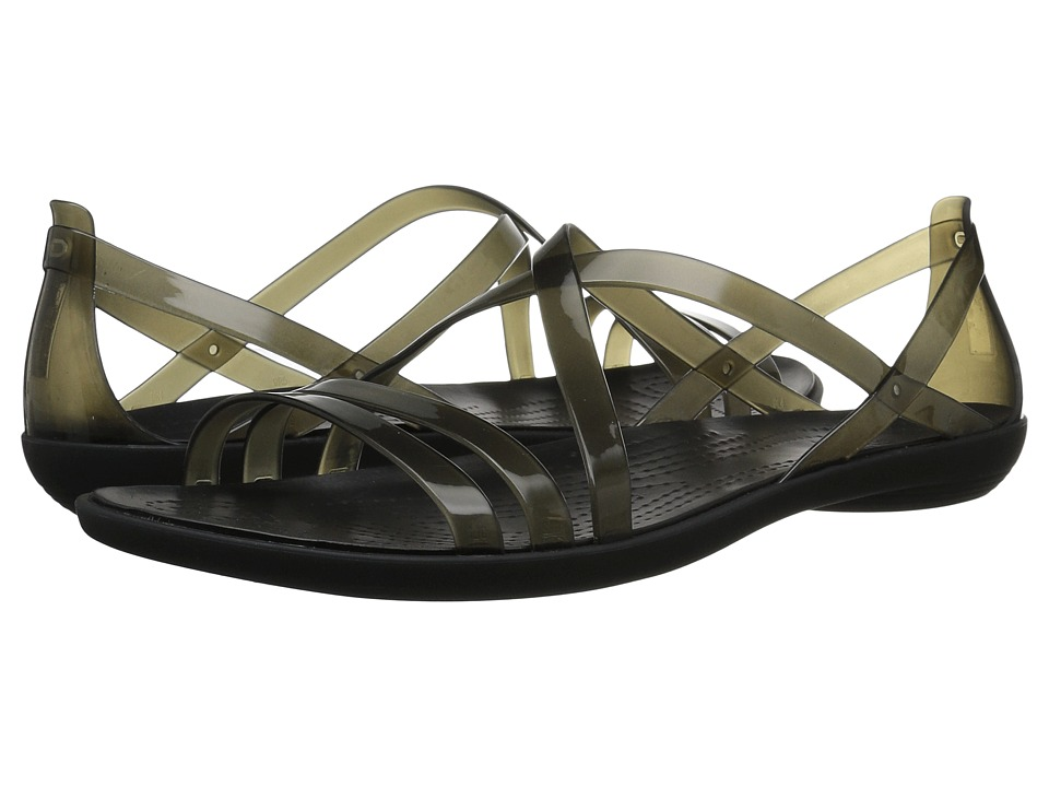 Crocs - Isabella Strappy Sandal (Black) Womens  Shoes