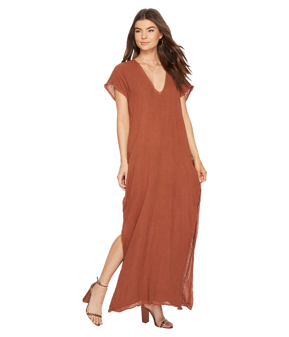 Jen's Pirate Booty - Saba Maxi Kaftan (Rust) Women's Dress