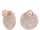 Vince Camuto Rose Gold Pave Disc Front Back Earrings