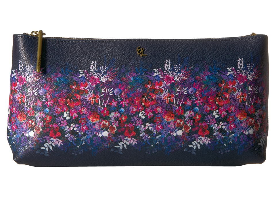 Elliott Lucca - Artisan 3 Way Demi Clutch (Indgio Bouquet) Clutch Handbags