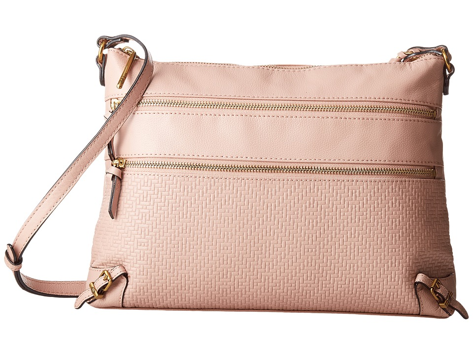 Elliott Lucca - Mari 3 Zip Crossbody (Fawn) Cross Body Handbags