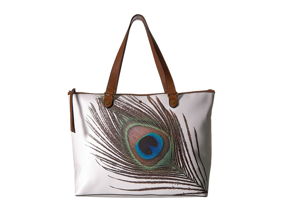 Elliott Lucca - Aria Large Tote (White Peacock) Tote Handbags