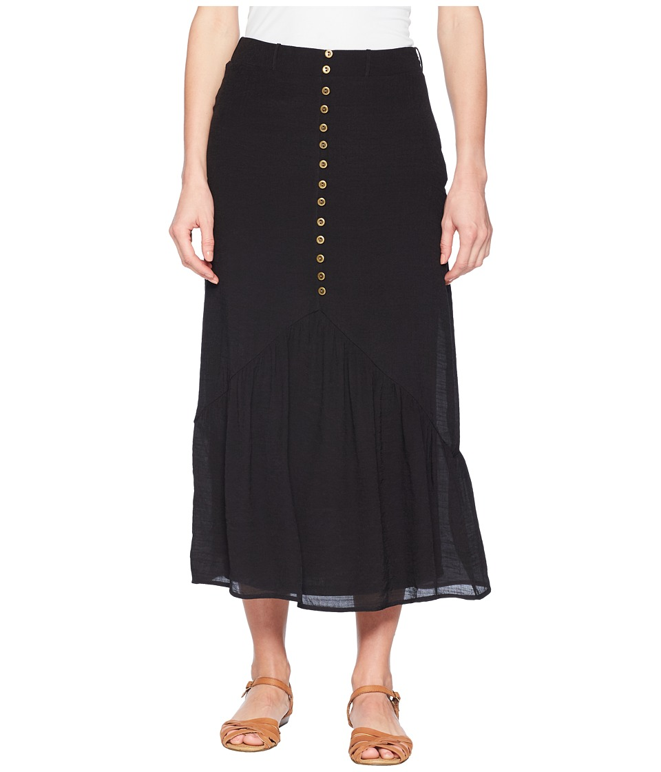 Wrangler Skirt with Buttons Down Front (Black) Women