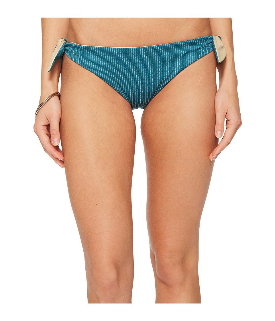 Luli Fama Havana Nights Cayo Hueso Bandana Tie Reversible Seamless Moderate Bikini Bottom (Miramar)