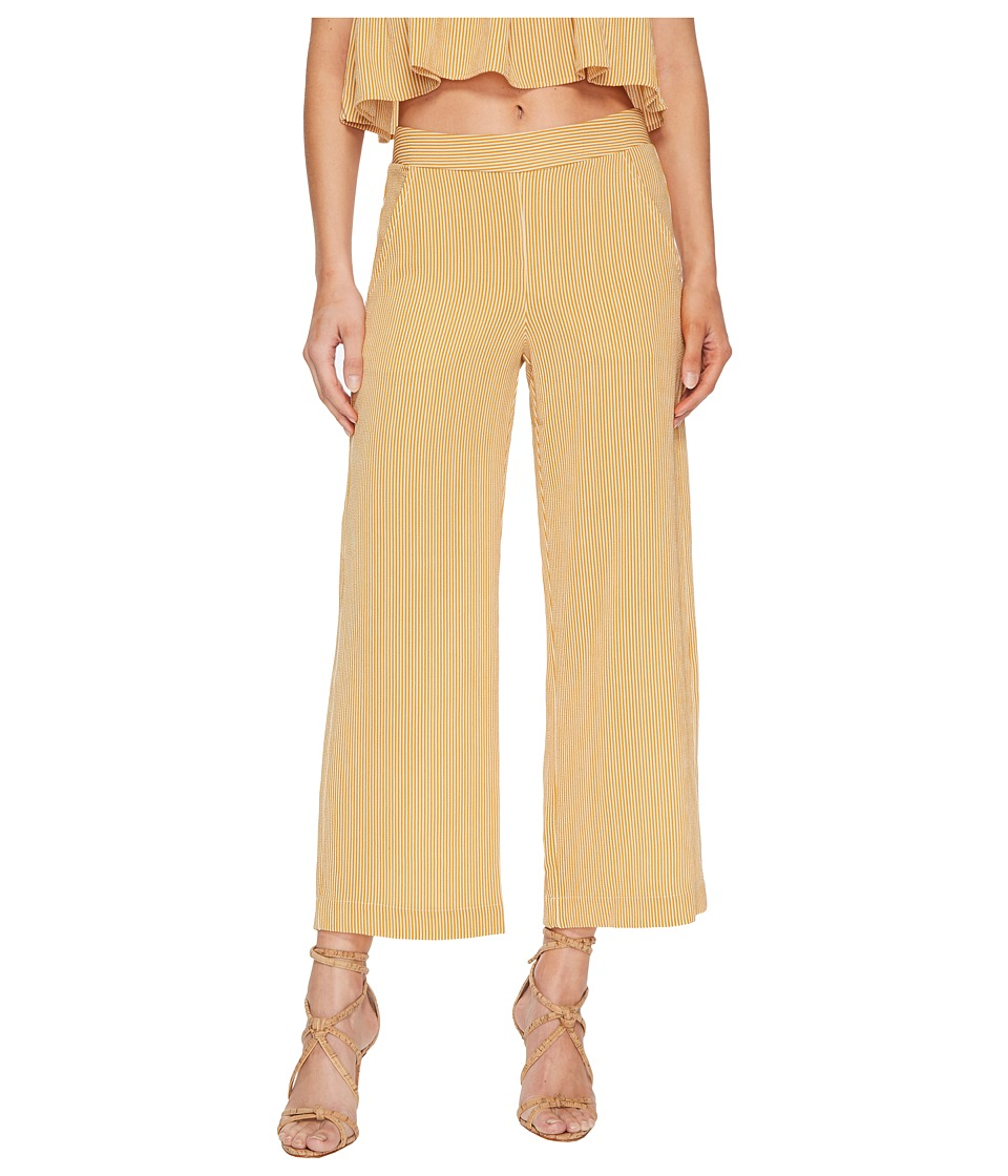Jens Pirate Booty - Carom Crop Pants (Tumerica/White Stripe) Womens Casual Pants