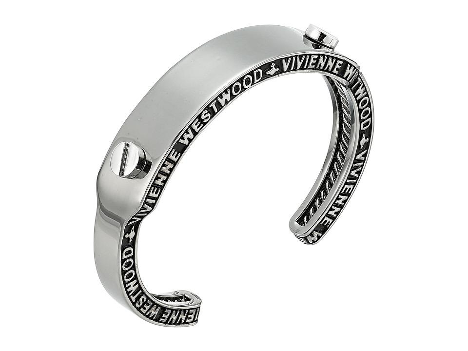 Vivienne Westwood - Frederic Open Bangle (Ruthenium/Rhodium) Bracelet