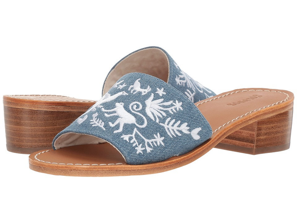 Soludos - Otomi City Sandal (Medium Denim) Women's Sandals