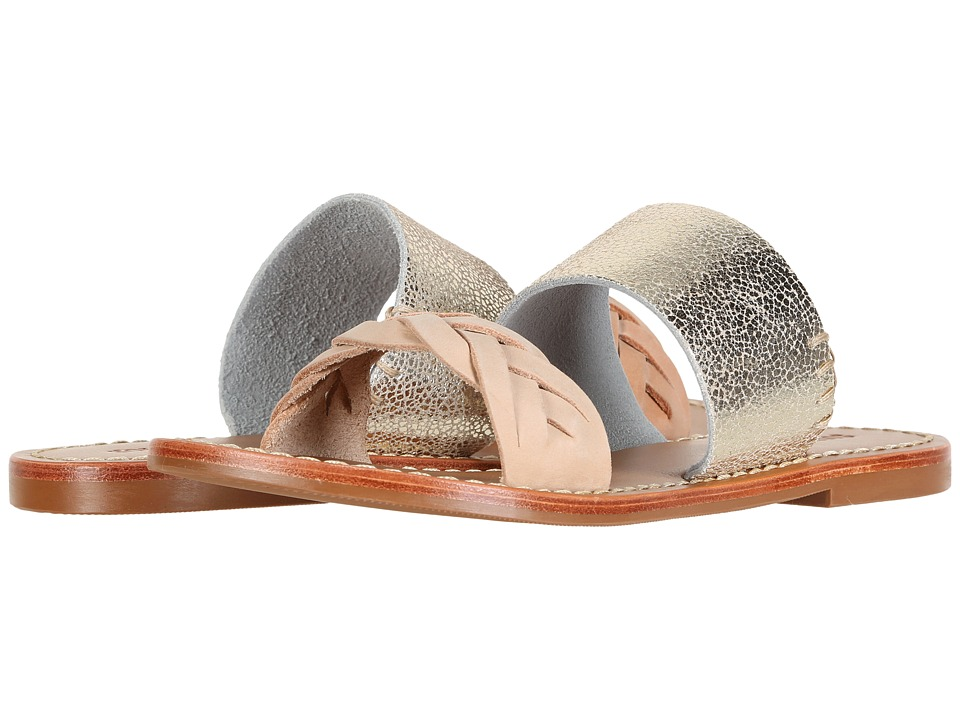 Soludos - Metallic Braided Slide Sandal (Nude/Pale Gold) Women's Sandals