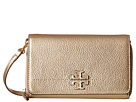 Tory Burch McGraw Metallic Flat Wallet Crossbody