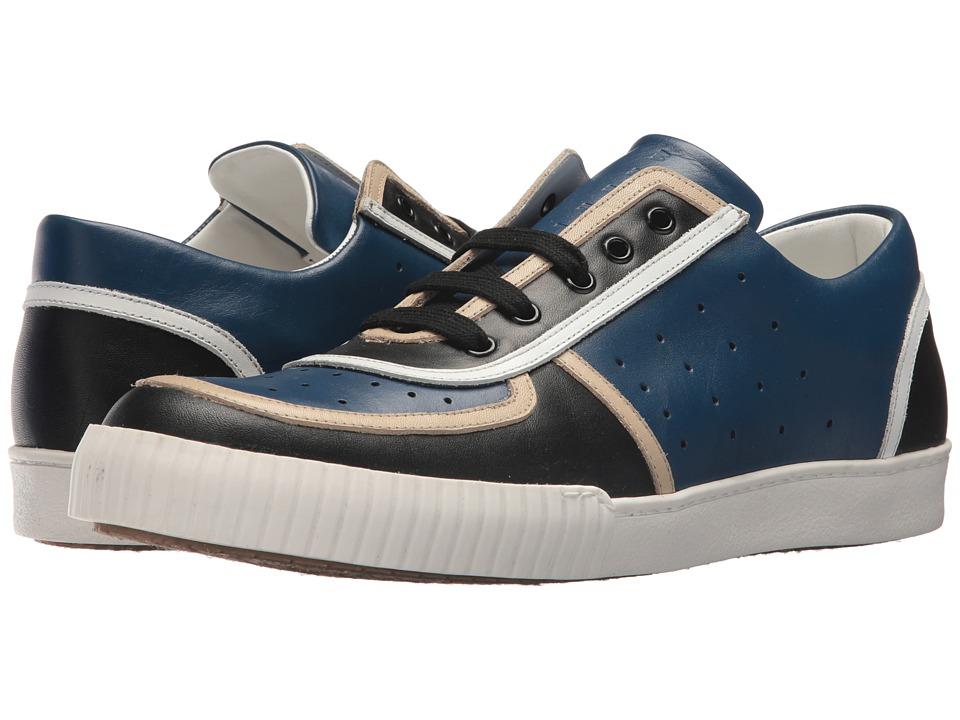 MARNI - Perforated Sneaker (Black/Cobalt) Mens Shoes
