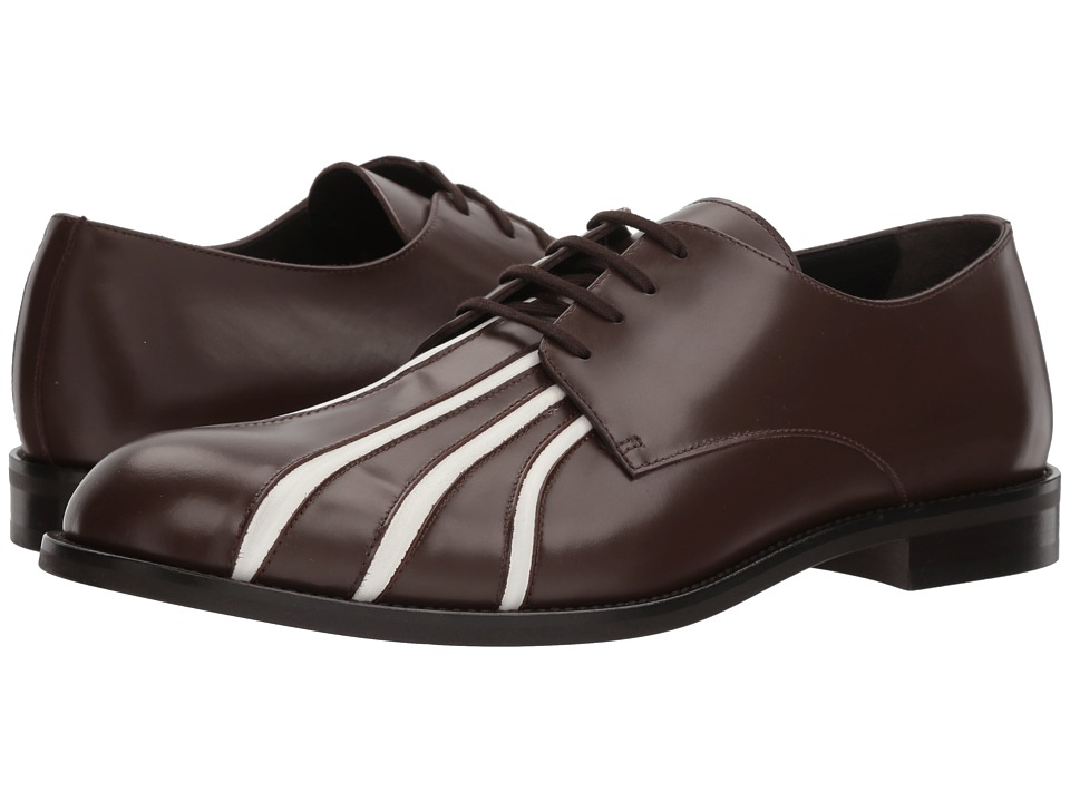 MARNI - Seamed Oxford (Dark Brown/White) Mens Shoes