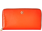 Tory Burch Robinson Patent Zip Continental Wallet