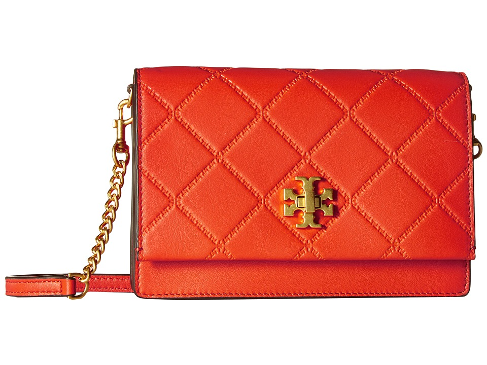 Tory Burch - Georgia Turn-Lock Mini Bag (Spicy Orange) Bags