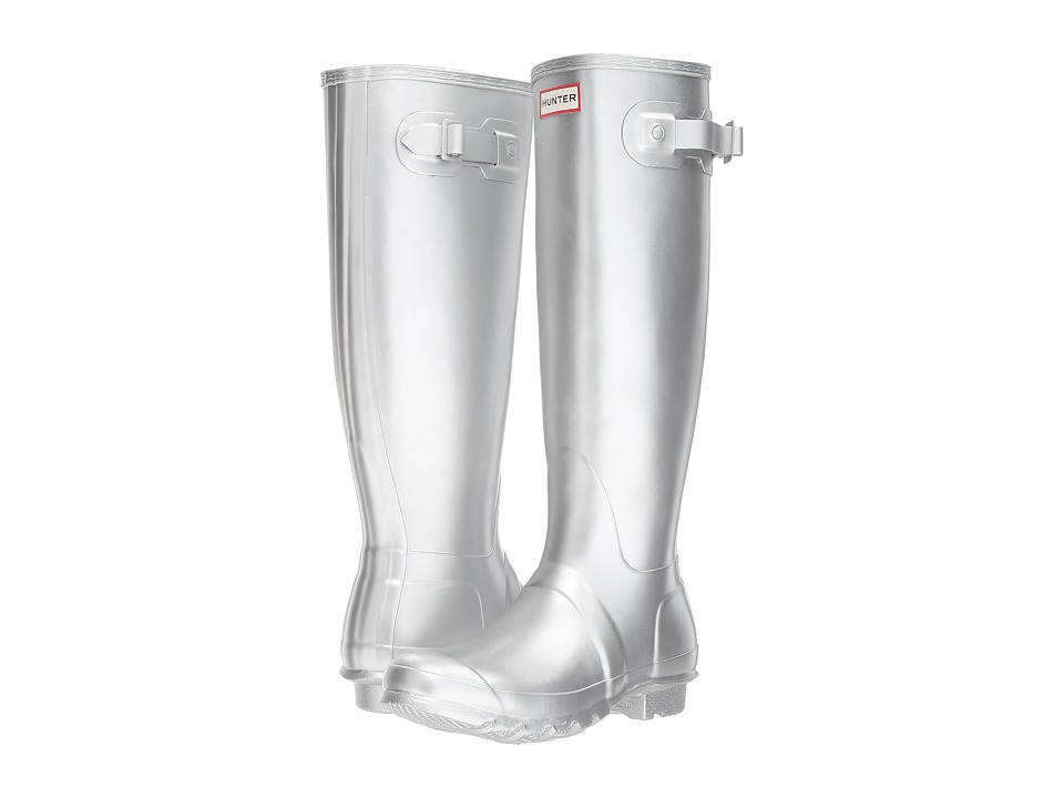 Hunter Original Tall Rain Boots (Silver) Women