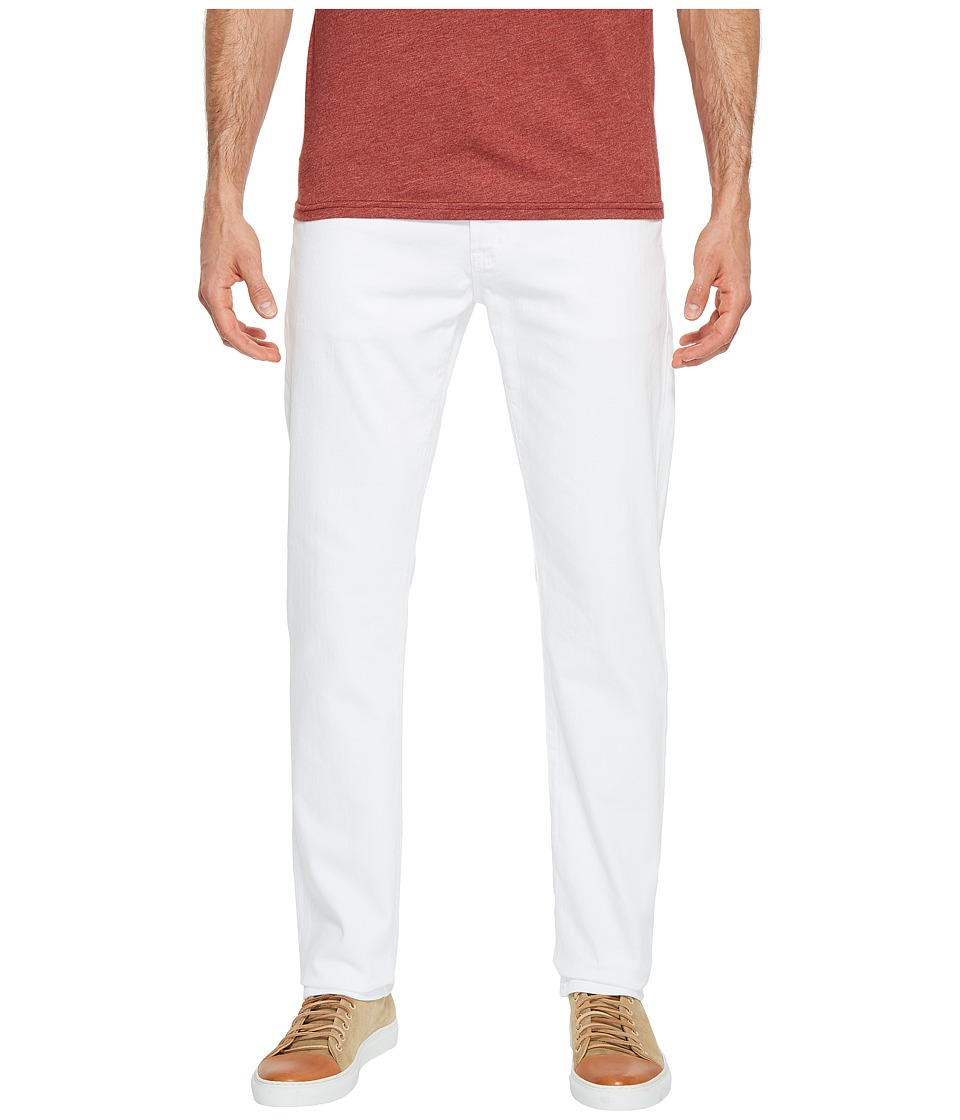 AG Adriano Goldschmied - Everett Slim Straight Leg Denim in White (White) Mens Jeans