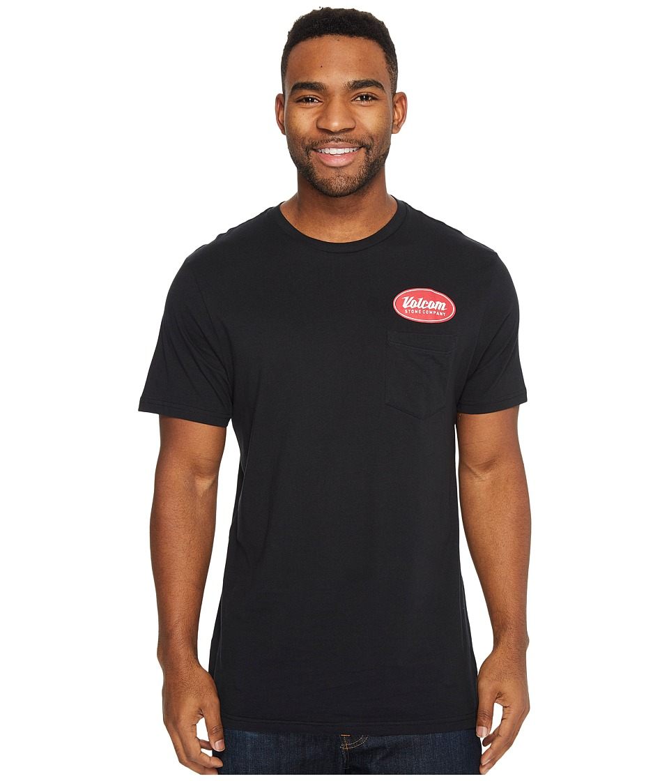 Volcom Foundry Short Sleeve Pocket Tee (Black) Men