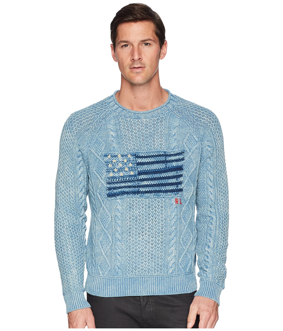 Ralph Lauren Indigo Flag Cotton Sweater (Real Indigo Flag...