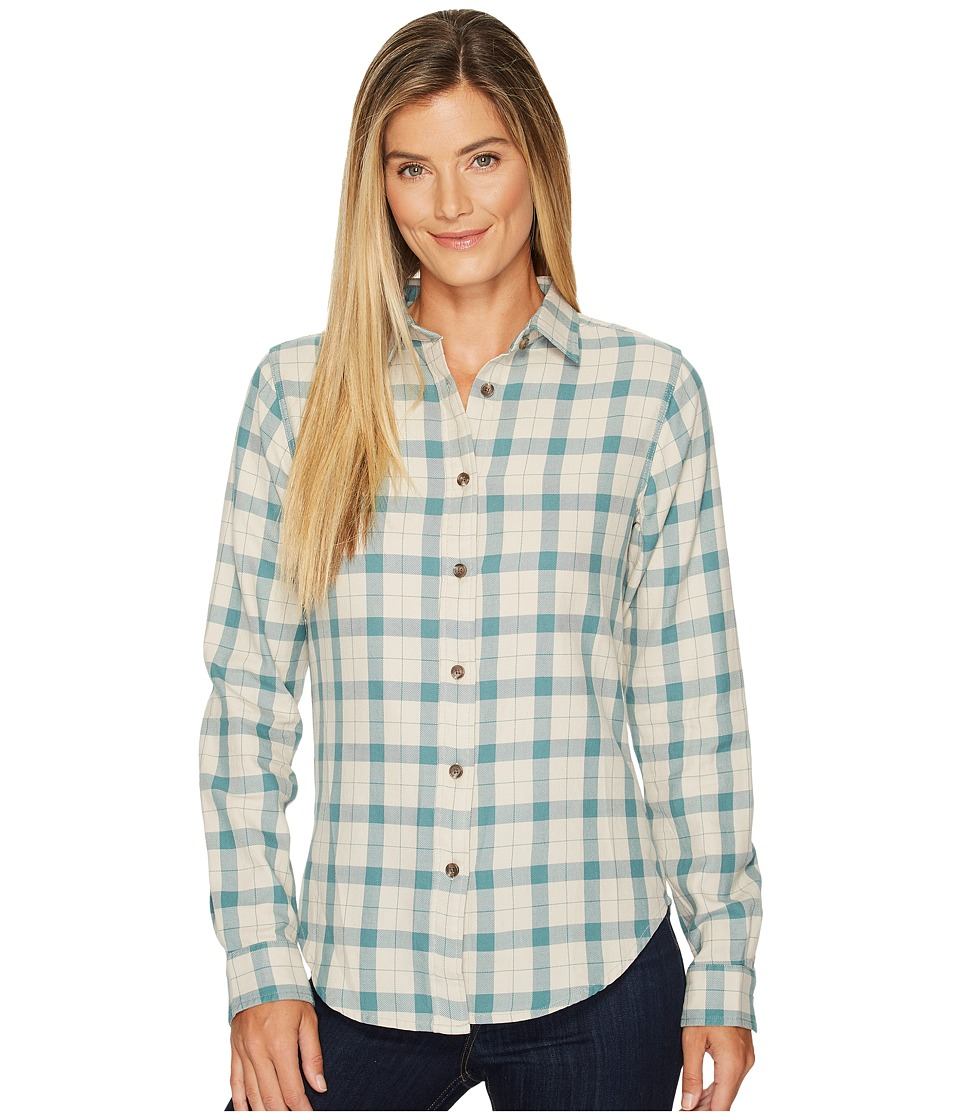 Filson Light Weight Alaskan Guide Shirt (Cream/Turquoise Plaid) Women