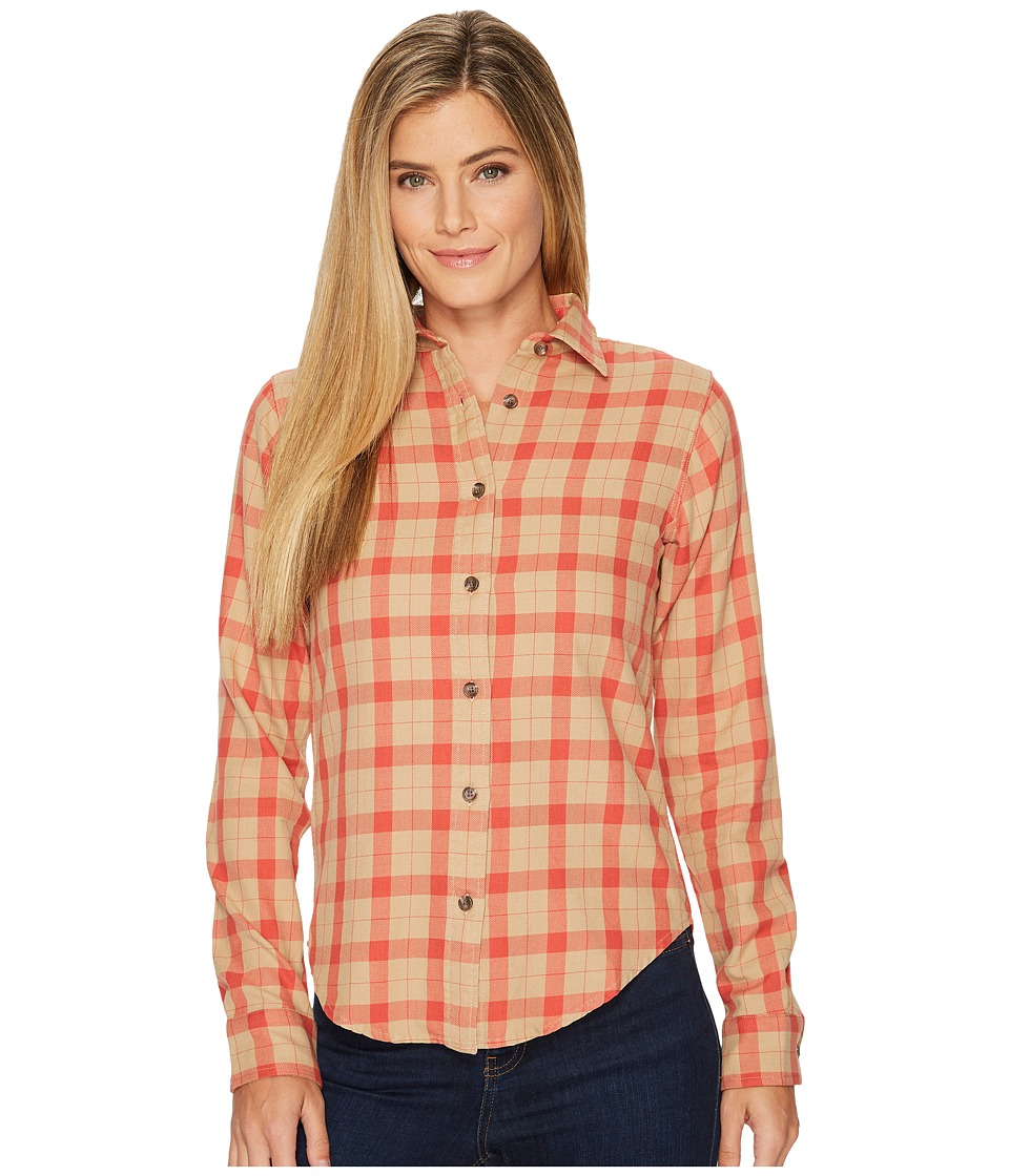 Filson Light Weight Alaskan Guide Shirt (Khaki/Salmon Plaid) Women