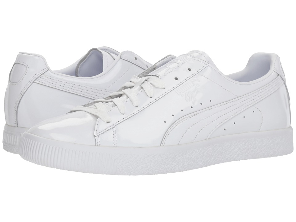 PUMA - Clyde Dressed Part Three (PUMA White) Mens Lace up casual Shoes