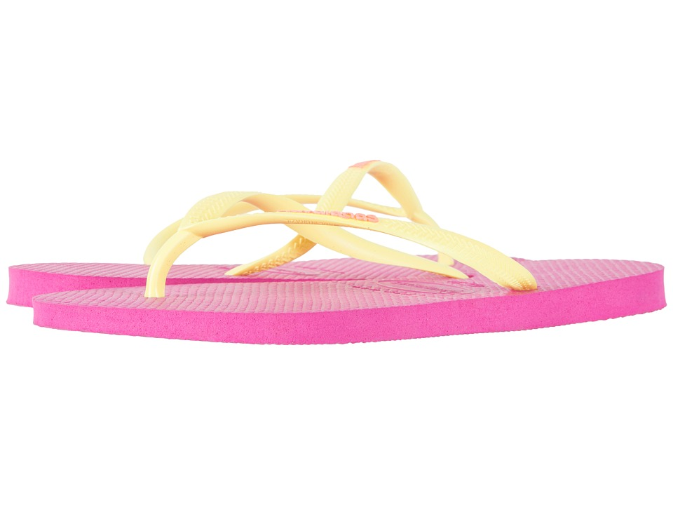 Havaianas - Slim Logo Flip Flops (Hollywood Rose) Women's Sandals