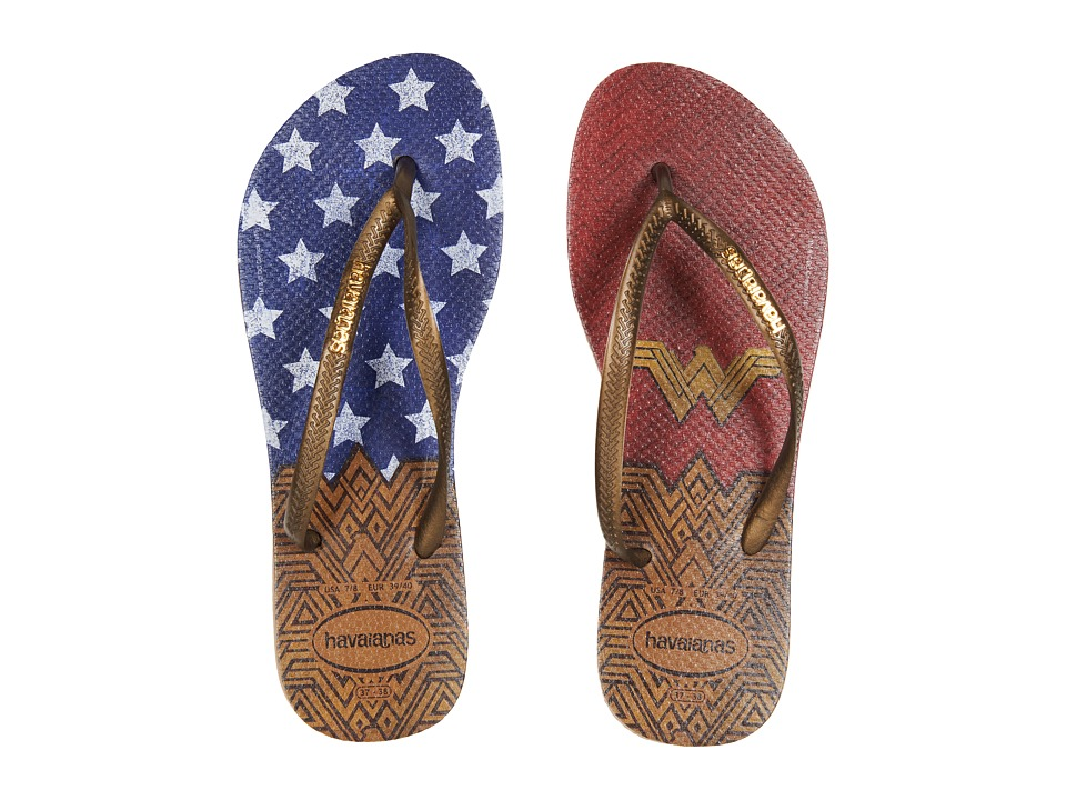 Havaianas - Slim Wonder Woman Flip-Flops (Rose Gold) Women's Sandals