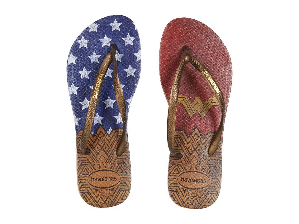 Havaianas - Slim Wonder Woman Flip-Flops (Rose Gold) Womens Sandals