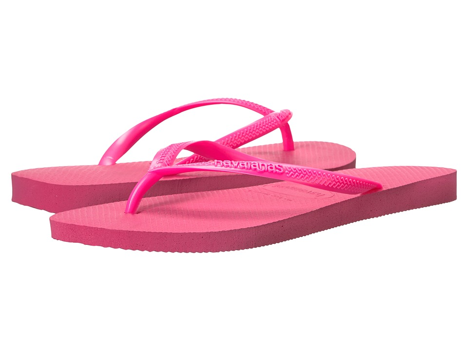 Havaianas - Slim Flip Flops (Shocking Pink 1) Women's Sandals