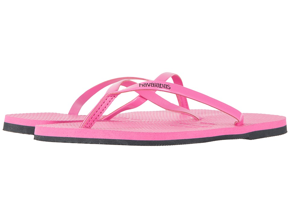 Havaianas - You Metallic Flip Flops (Shocking Pink) Women's Sandals