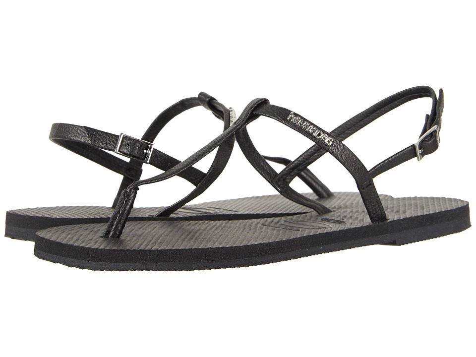 Havaianas - You Riviera Sandals (Black) Womens Sandals