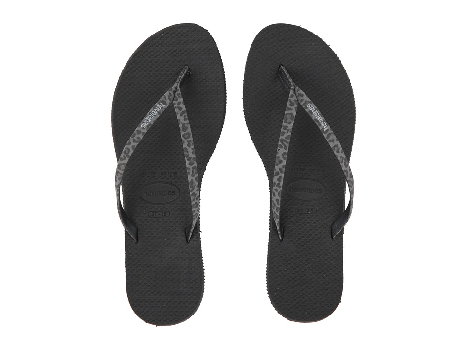 Havaianas - You Animals Flip-Flops (Black) Women's Sandals