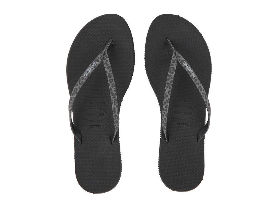 Havaianas - You Animals Flip-Flops (Black) Womens Sandals