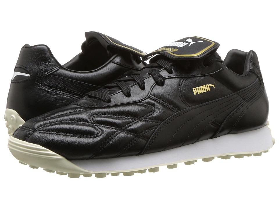 PUMA King Avanti Premium (Puma Black/Puma White/Whisper White/Puma Team Gold 1) Men