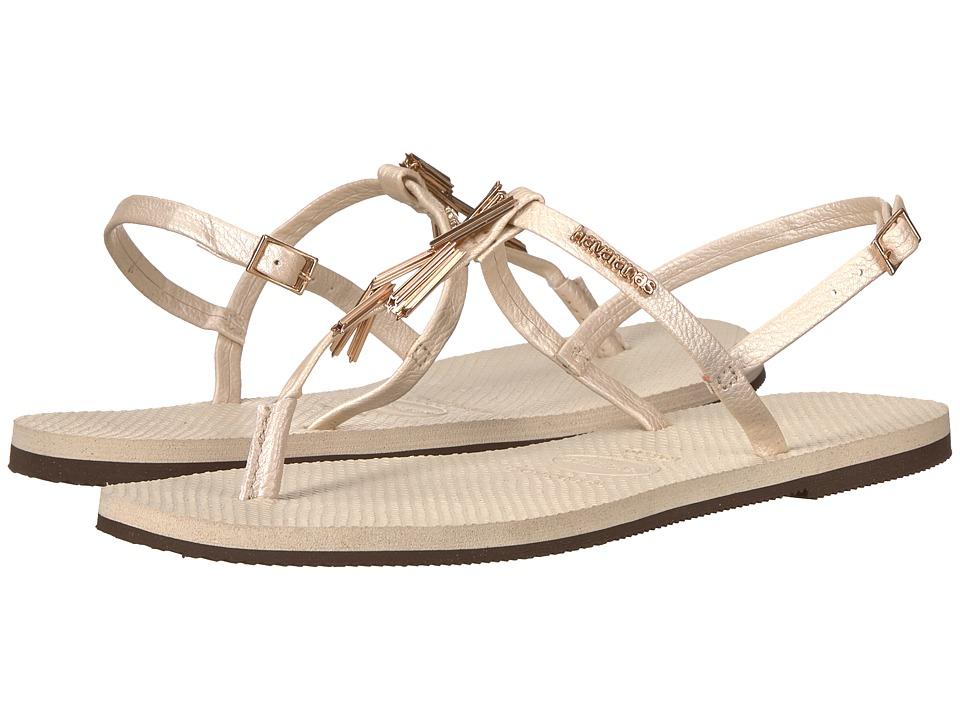 Havaianas - You Riviera Maxi Sandals (Beige) Womens Sandals
