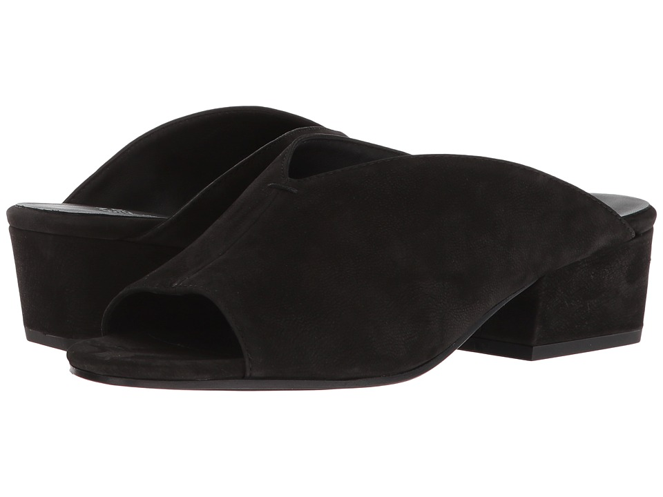 Eileen Fisher Katniss (Black Tumbled Nubuck) Women's Clog/Mule Shoes